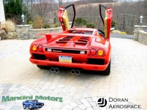 Rear view of the Lamborghini Diablo