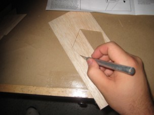 Cutting out the fins