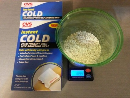 Sciencemadness Discussion Board - Cold Pack Ammonium Nitrate